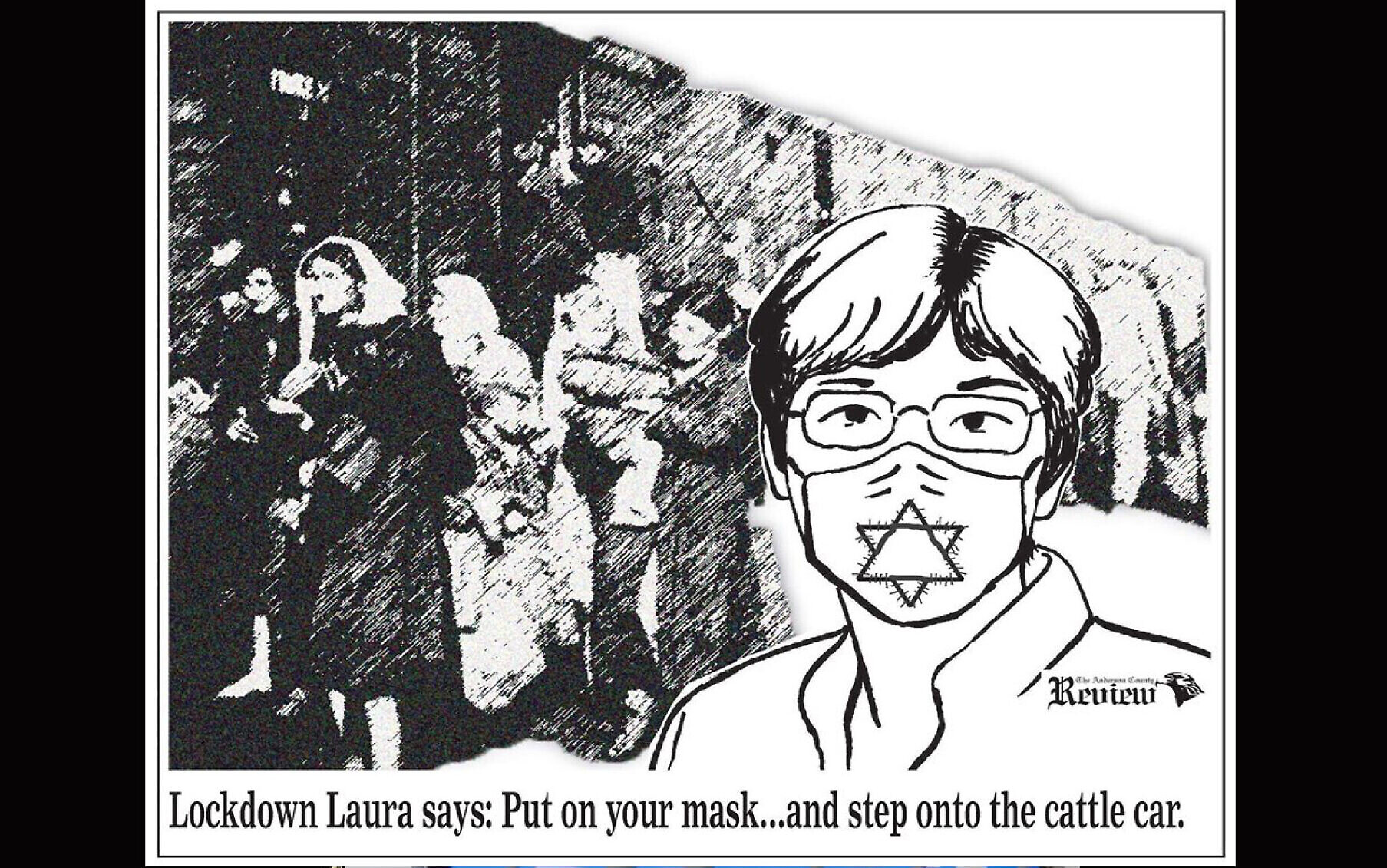 Kansas paper owner apologizes for tying mask rule, Holocaust