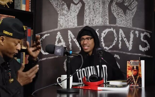 Nick Cannon (R) and Richard 'Professor Griff' Griffin, the former Public Enemy member, talk during an episode of 'Cannon's Class' released July 2020 (Screen grab/YouTube)