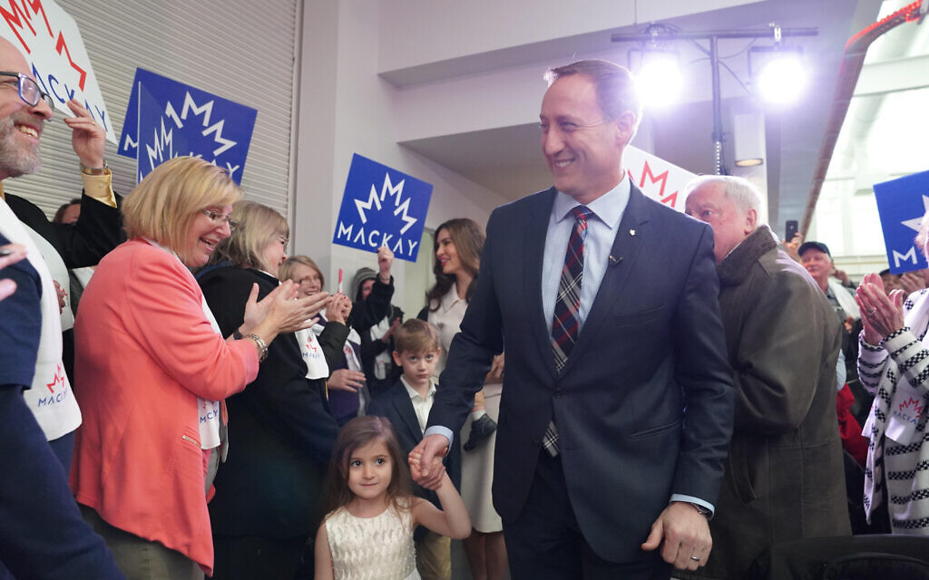 Canadian Conservative Party leadership candidate Peter MacKay during a campaign event, January 2020 (courtesy)
