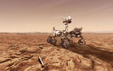 NASA's Mars 2020 rover will store rock and soil samples in sealed tubes on the planet's surface for future missions to retrieve, as seen in this illustration. (NASA)