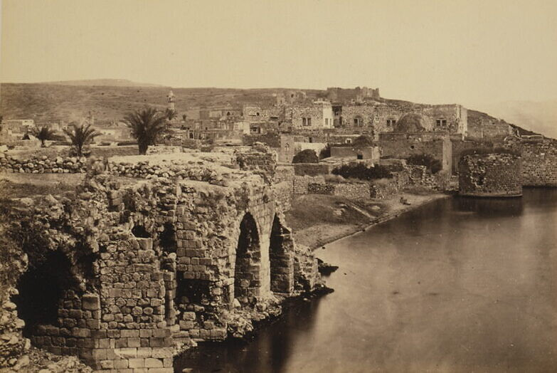 A photo  of the city of Tiberias taken from the south by Francis Firth, circa 1862. (Library of Congress)