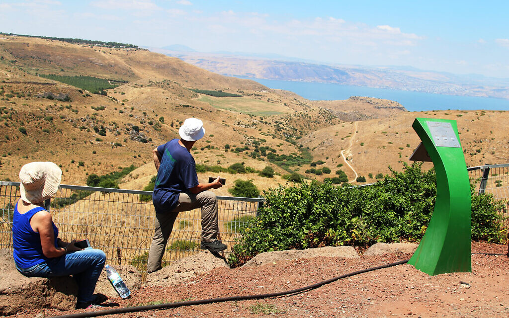 The view of the Sea of Galilee from a former Syrian Officers' Club visited by Eli Cohen in northern Israel. (Shmuel Bar-Am)