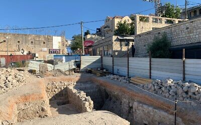 Archaeological remains spanning four centuries uncovered in the northern city of Safed. (Safed Municipality)