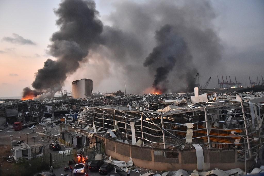 Massive blast rocks Beirut, causing widespread carnage; hundreds ...