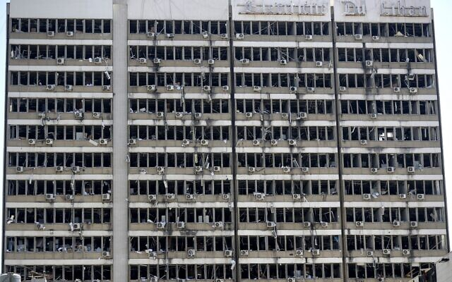 A picture shows the damages at the Electricity of Lebanon building on August 5, 2020 in the aftermath of a massive explosion in the Lebanese capital Beirut. (Photo by JOSEPH EID / AFP)