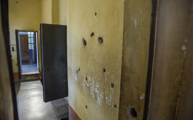 View of bullet holes -- from an earlier assassination attempt -- on the bedroom wall of Russian revolutionary, political theorist and politician Leon Trotsky, one of the leaders of the Russian Revolution, at his House Museum in the Coyoacan neighborhood of Mexico City, on August 10, 2020. (Photo by CLAUDIO CRUZ / AFP)