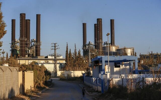 A picture shows a power generating facility in the middle of the Gaza Strip on August 17, 2020. (Mohammed ABED / AFP)