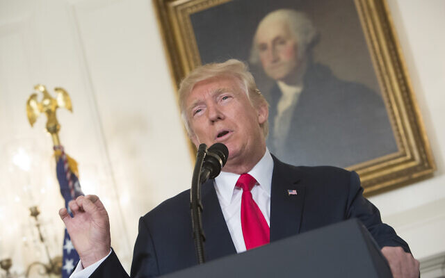 President Donald Trump makes a statement on the violence in Charlottesville, Va., at the White House, Aug. 14, 2017. (Chris Kleponis-Pool/Getty Images)