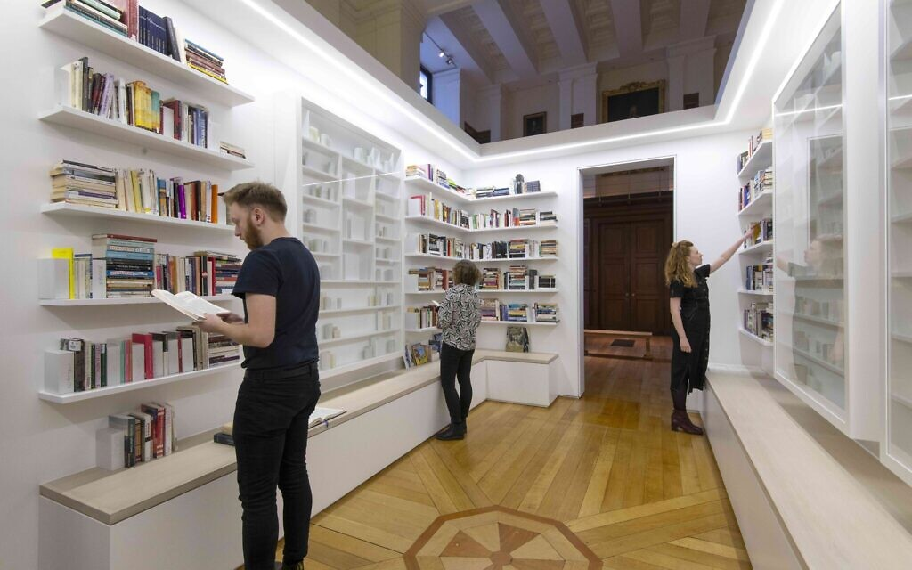 The 'Library of Exile' installation by Edmund de Waal at the British Museum. (Courtesy of the Trustees of the British Museum)