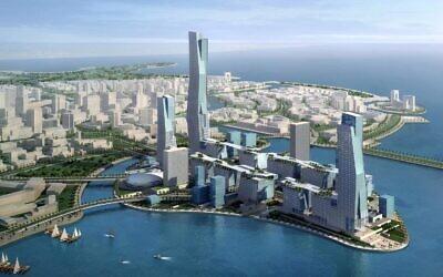 illustration of the planned Neom city (Neom.com)