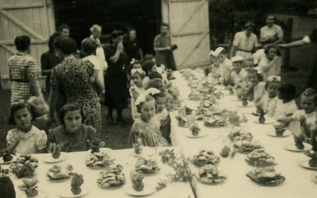 A party for the children interned in the women's camp at Beau Bassin, Mauritius. (Courtesy Ghetto Fighters' House Archives, Israel)