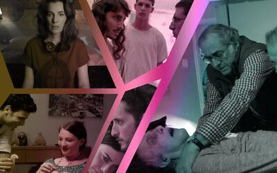 Collage of Israeli television shows. (Images via Yes Studios/Kan 11/Dori Media/HBO/ConfessTLV/ via JTA)