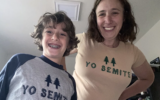 Sarah Lefton, creator of the 'Yo Semite' T-shirt, with her son, Levi. (Courtesy of Lefton)