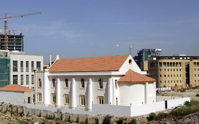 A general view shows the Magen Abraham Synagogue, currently undergoing restoration, in the Lebanese capital Beirut on October 19, 2010. (OSEPH EID/AFP via Getty Images via JTA)