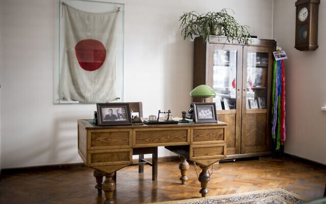 This handout photo provided by Chiune Sugihara Memorial Museum, shows a working room in Chiune Sugihara memorial museum in Kaunas, Lithuania, May 12, 2020 (Chiune Sugihara Memorial Museum via AP)