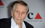 In this April 20, 2013, file photo, media mogul Sumner Redstone arrives at the 2013 MOCA Gala celebrating the opening of the Urs Fischer exhibition at MOCA, in Los Angeles. (Richard Shotwell/Invision/AP, File)
