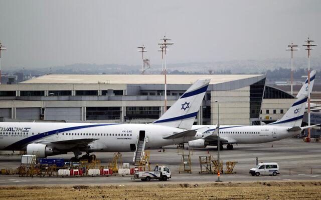 El Al planes are parked at Ben Gurion Airport near Tel Aviv on April 21, 2013. (AP Photo/Ariel Schalit, File)