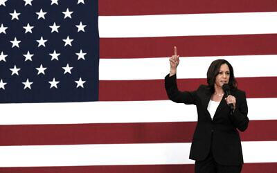Democratic presidential candidate Sen. Kamala Harris talks during her first campaign organizing event at Los Angeles Southwest College in Los Angeles, on May 19, 2019. ((AP Photo/Richard Vogel)