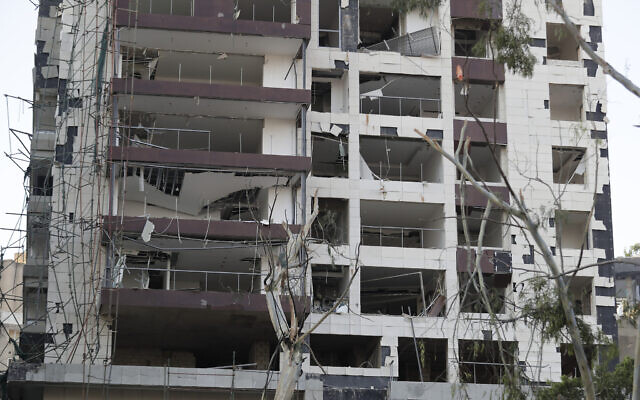 Damage is seen after a massive explosion in Beirut, Lebanon, August 5, 2020. (AP Photo/Hassan Ammar)