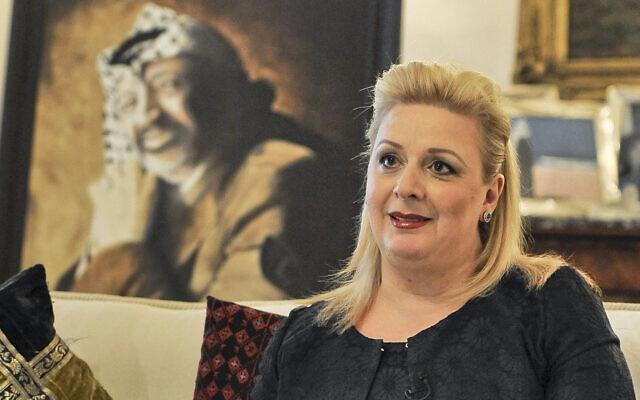 File: Suha Arafat at her home in Sliema, Malta, Thursday, Nov. 29, 2012 (AP Photo/Lino Azzopardi)