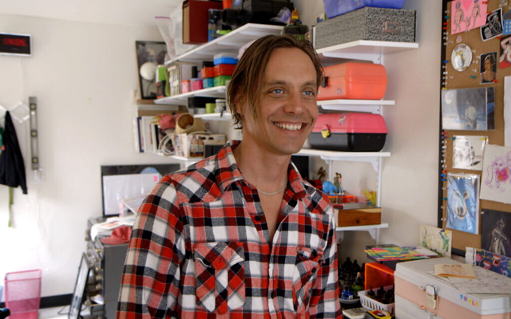 Artist Matt Furie in the new documentary 'Feels Good Man.' (Kurt Keppeler)