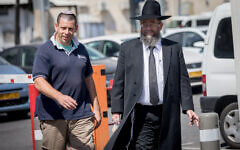 Matnat Chaim founder Rabbi Avraham Yeshayahu Haber in Jerusalem, September 25, 2017. (Yonatan Sindel/Flash90)