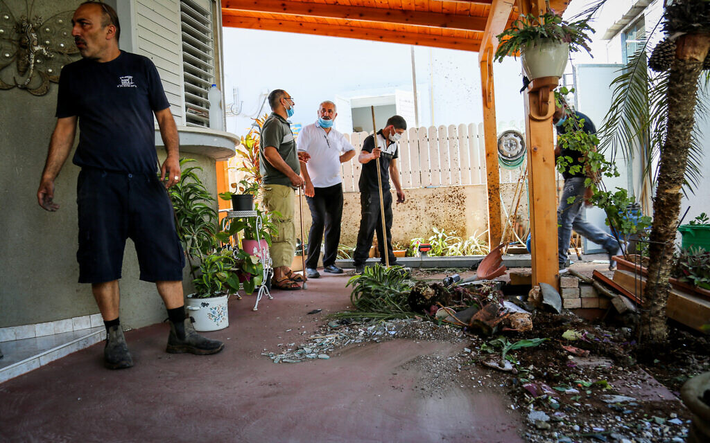 Iron Dome fragment hits Sderot home as 2 rockets downed after IDF strikes Strip