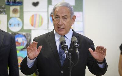 Prime Minister Benjamin Netanyahu in Jerusalem on August 25, 2020. (Marc Israel Sellem/Pool)