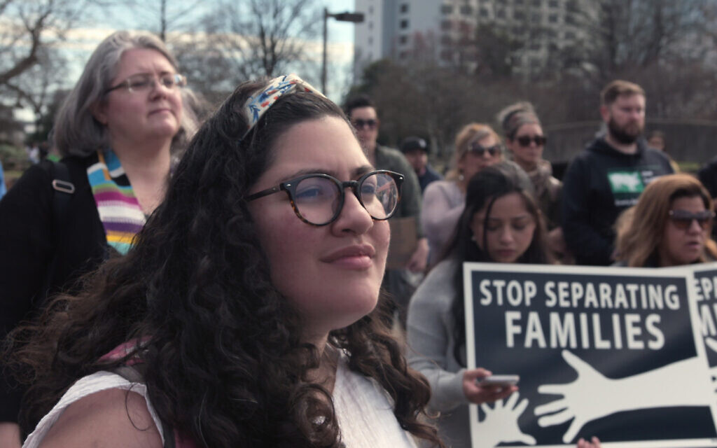Immigrants protest family separations in Episode 3 of Netflix's 'Immigration Nation.' (Courtesy of NETFLIX © 2020)