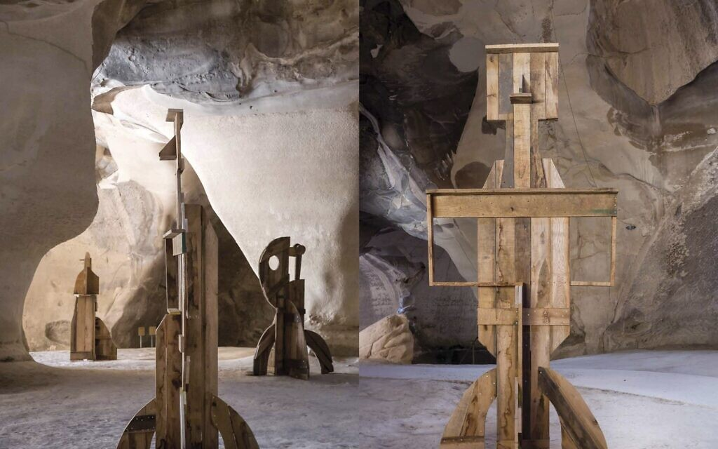 The 'Human Forms' sculptures created by artist Ivo Bisignano at the Beit Guvrin National Park, open until November 1, 2020 (Courtesy Ivo Bisignano)
