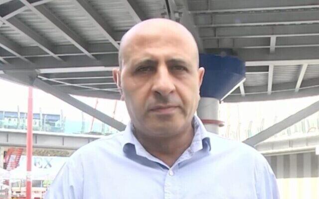 Ayman Sayyaf, head of the Interior Ministry's Coronavirus Directorate for the Arab Population. (Ynet video screenshot)
