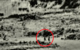 IDF footage showing a group of four militants whom the IDF says crossed into Israeli territory and tried to plant a bomb in an unmanned outpost on August 2, 2020. (Screen capture: Israel Defense Forces)