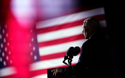US Vice President Mike Pence speaks on the third day of the Republican National Convention at Fort McHenry National Monument and Historic Shrine in Baltimore, August 26, 2020. (AP Photo/Andrew Harnik)