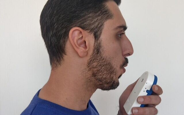 A prototype of Prof. Hossam Haick's COVID-19 breath test (courtesy of Hossam Haick)