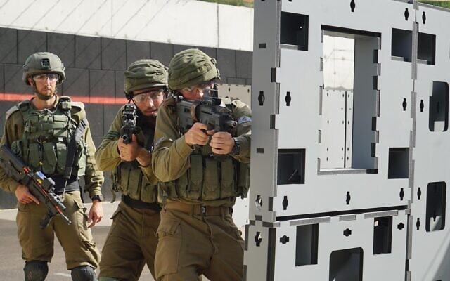 IDF troops are seen during an exercise in an undated photograph. (Israel Defense Forces)