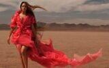 Beyonce wearing a dress designed by Israeli designer Shahar Avnet, one of three Israelis who created looks for the singer's 'Black Is King' album (Courtesy Shahar Avnet)