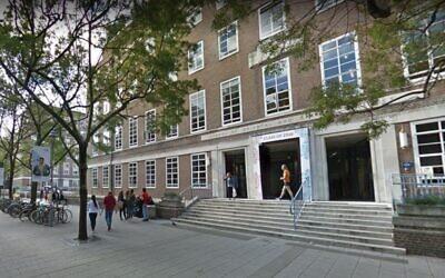 London University's School of Oriental and African Studies. (Google street view)