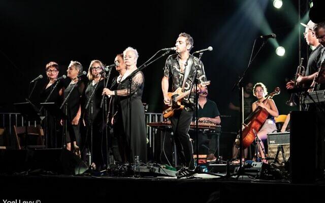 Dudu Tassa and the Kuwaitis at the 2020 Israel Festival in Jerusalem (Courtesy Yoel Levi)