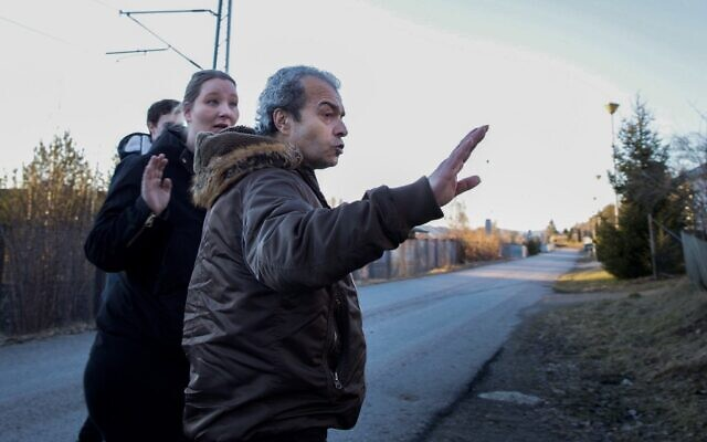 File photo of Walid Abdulrahman Abu Zayed, alias 'Souhail Othman' as he gestures outside his home in the Norwegian town of Skien some 130 km south of Oslo, March 4, 2015.  (Tomm W. CHRISTIANSEN/AFP)