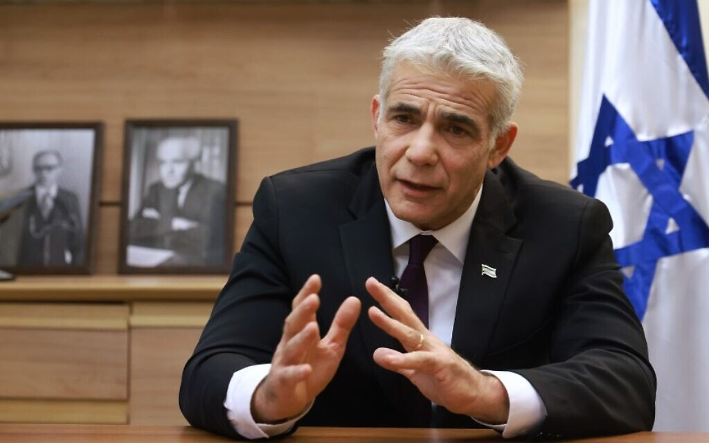 Image Lapid: My ambitions can wait; if Netanyahu wins, Israel will enter dark times