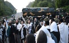 Jewish pilgrims stuck between the Belarusian and Ukrainian border crossings, September 16, 2020. (TUT.BY/AFP)
