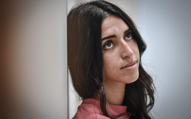 Zarie Sibony, survivor of the Hyper cacher Jewish supermarket jihadist killings on September 18, 2020, at the Paris courthouse in Paris. (STEPHANE DE SAKUTIN / AFP)