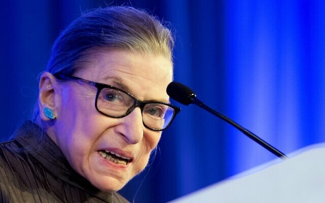 US Supreme Court Justice Ruth Bader Ginsburg speaks after receiving the American Law Institute's Henry J. Friendly Medal in Washington on May 21, 2018. (Jim Watson/AFP)