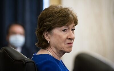 Republican Senator Susan Collins of Maine attends a hearing on Capitol Hill in Washington on June 10, 2020. (Al Drago/various sources/AFP)