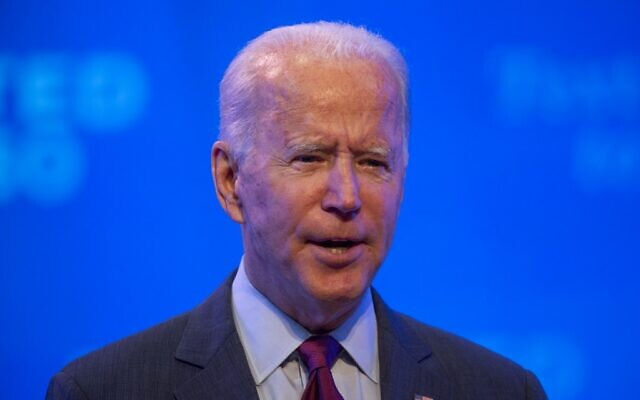 Democratic presidential nominee and former vice president Joe Biden delivers a speech at a local theater in Wilmington, Delaware on September 27, 2020 (ROBERTO SCHMIDT / AFP)