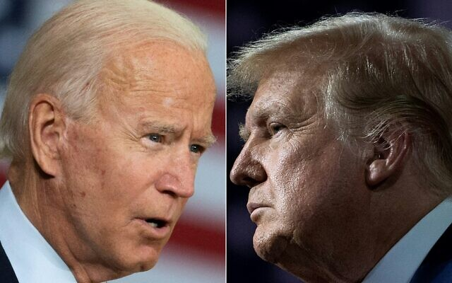 This combination of file pictures created on September 28, 2020 shows Democratic presidential candidate Joe Biden(L) and US President Donald Trump (JIM WATSON and Brendan Smialowski / AFP)