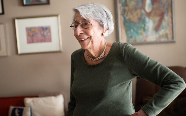 Artist, Marilee Asher Shapiro, in her home on November 11, 2015. (Sarah L. Voisin/The Washington Post via JTA)