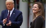 US President Donald Trump (L) introduces 7th U.S. Circuit Court Judge Amy Coney Barrett as his nominee to the Supreme Court in the Rose Garden at the White House September 26, 2020 in Washington, DC. (Chip Somodevilla/Getty Images/AFP)