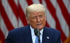 US President Donald Trump speaks on COVID-19 testing in the Rose Garden of the White House in Washington, DC on September 28, 2020 (Tasos Katopodis/Getty Images/AFP)