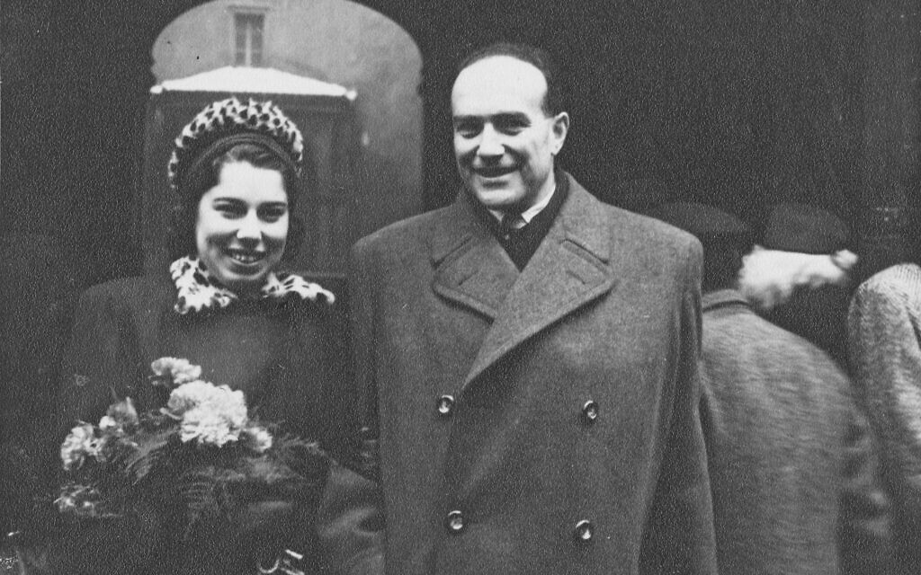 Franci Rabinek at her wedding to Kurt Epstein, Prague, December 21, 1946. (Courtesy of Helen Epstein)
